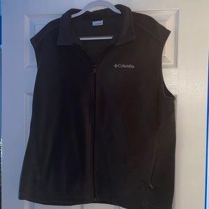 Men's Columbia Fleece Zip-Up Vest